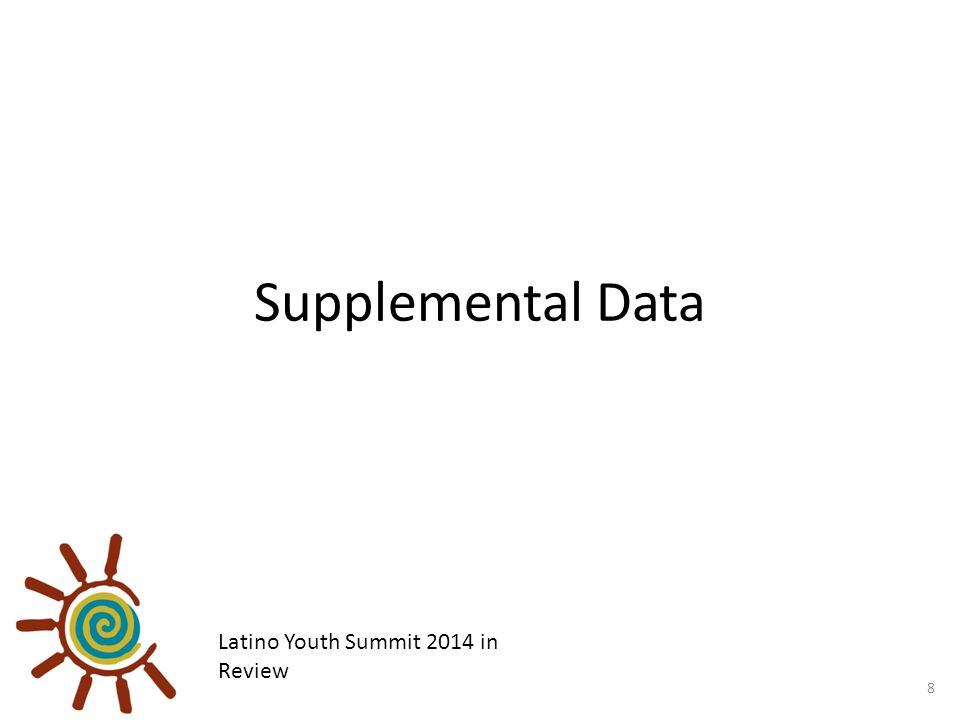 Supplemental Data 8 Latino Youth Summit 2014 in Review