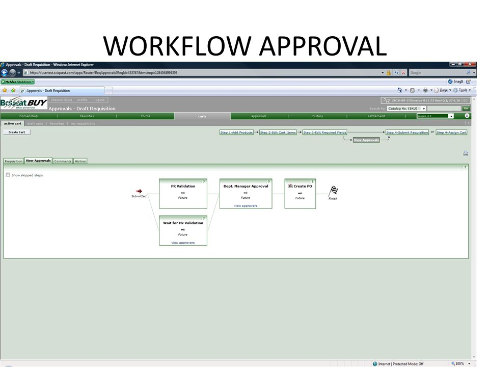 WORKFLOW APPROVAL