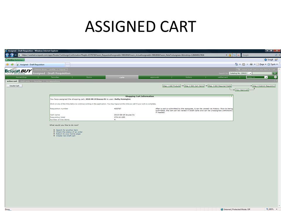 ASSIGNED CART