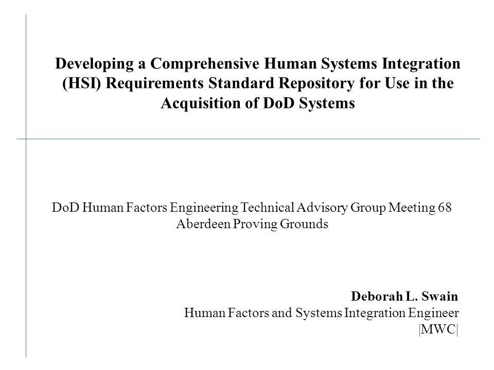 HFE/HSI Experience Education: – B.S.
