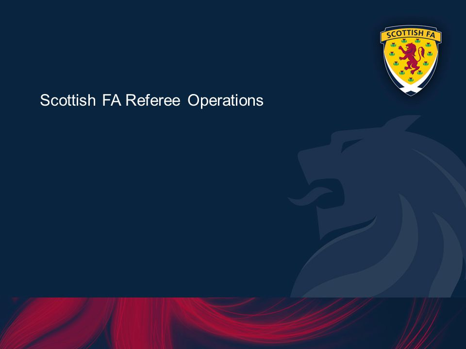Scottish FA Referee Operations