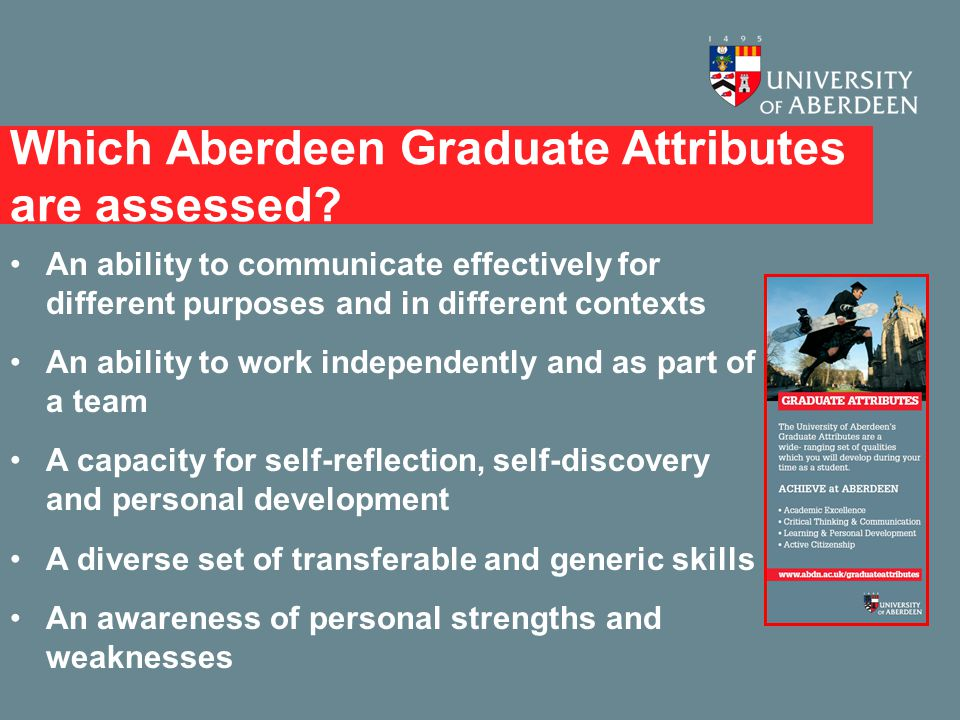 Which Aberdeen Graduate Attributes are assessed.