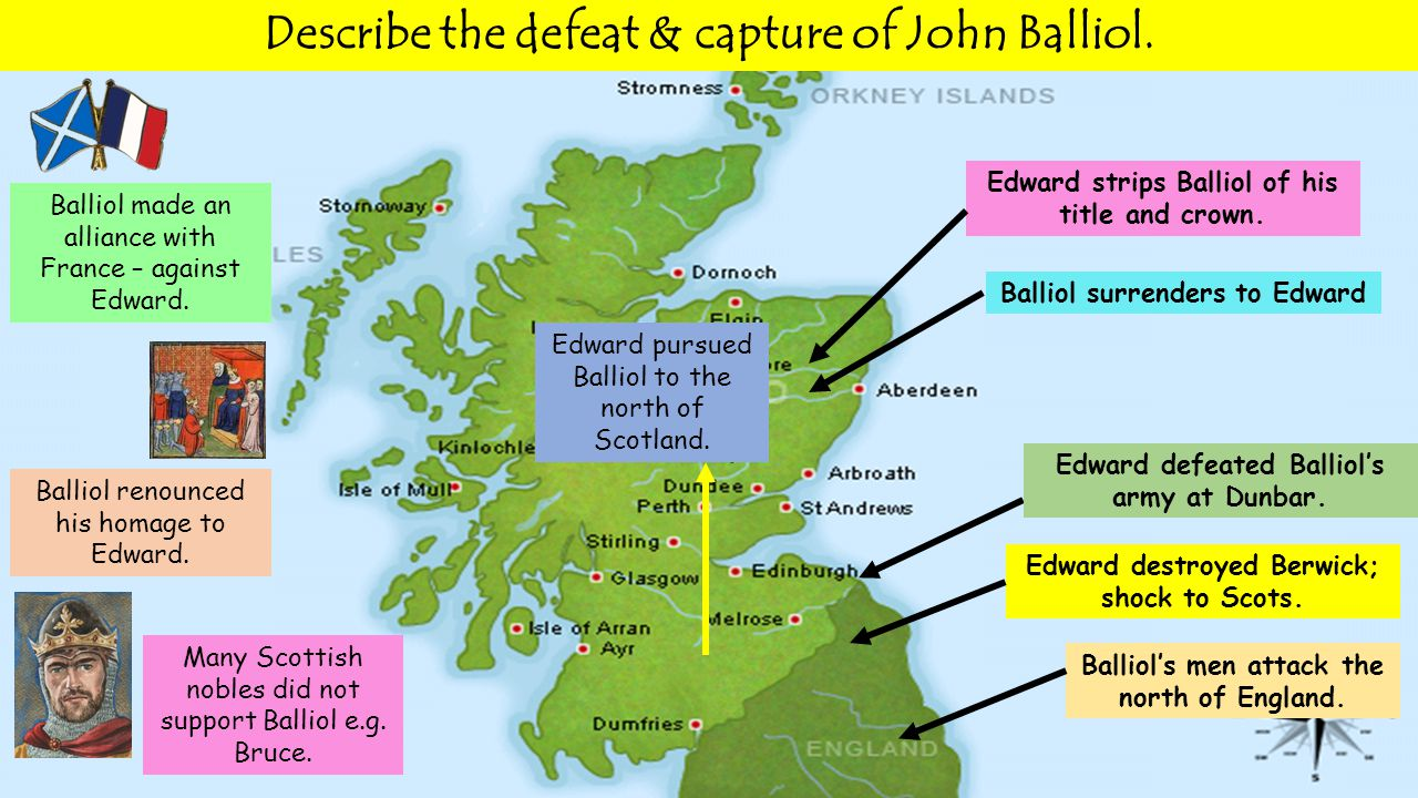 Balliol's men attack the north of England. Edward destroyed Berwick; shock to Scots.