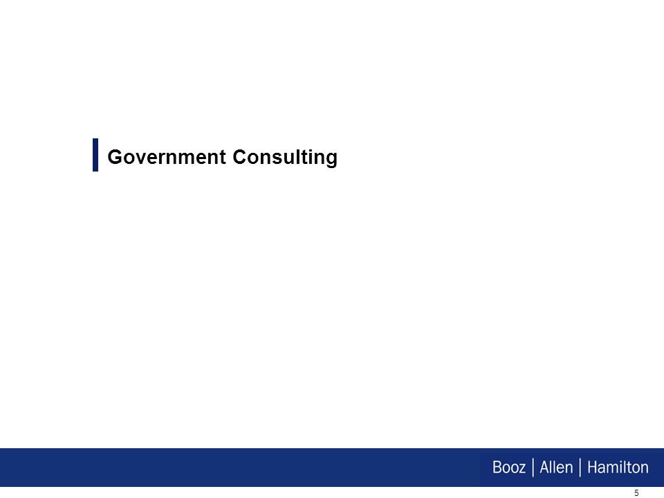 5 Government Consulting