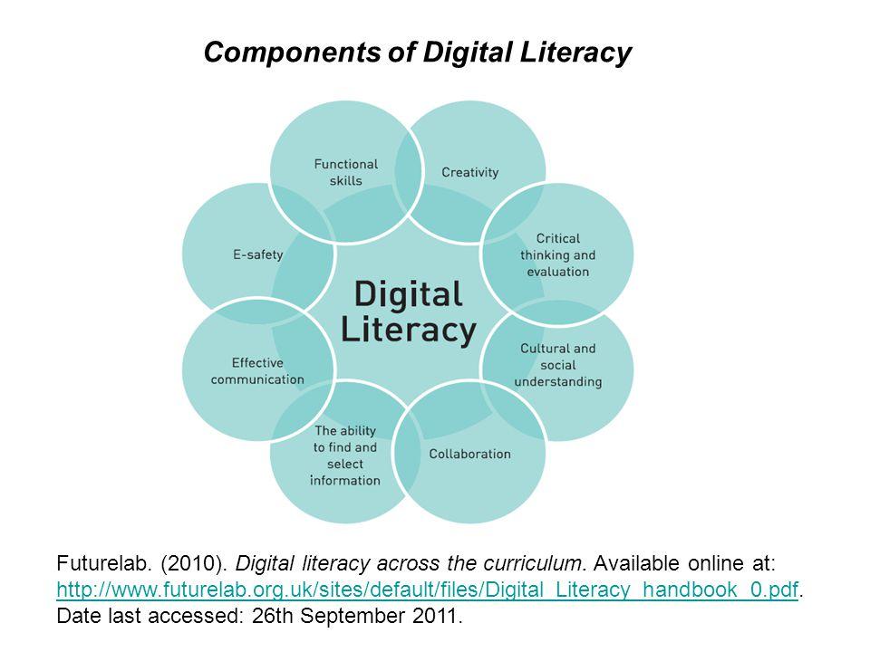 Futurelab. (2010). Digital literacy across the curriculum.