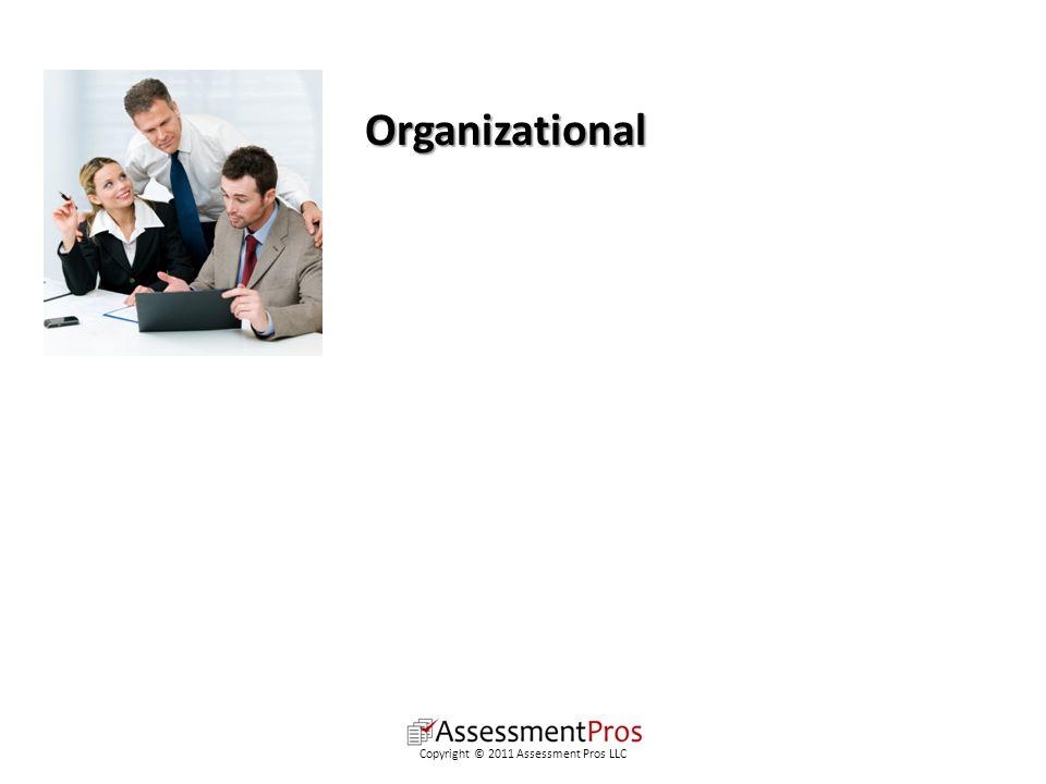 Organizational Copyright © 2011 Assessment Pros LLC