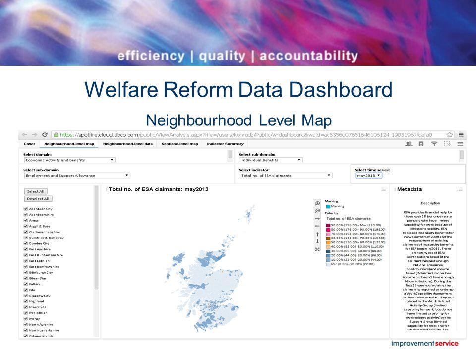 Welfare Reform Data Dashboard Neighbourhood Level Map