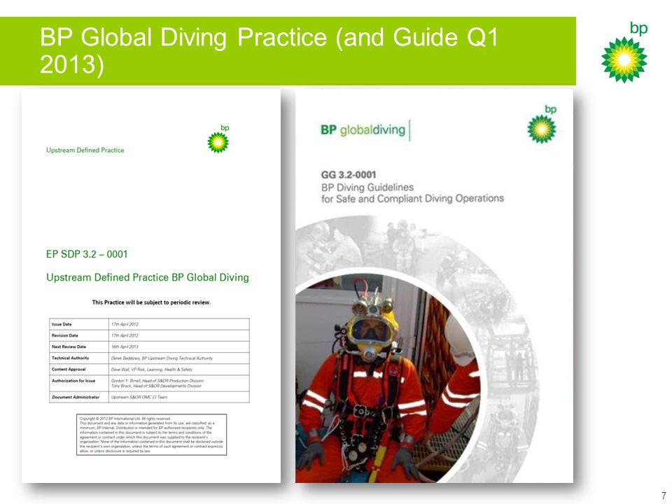 BP Global Diving Practice (and Guide Q1 2013) 7