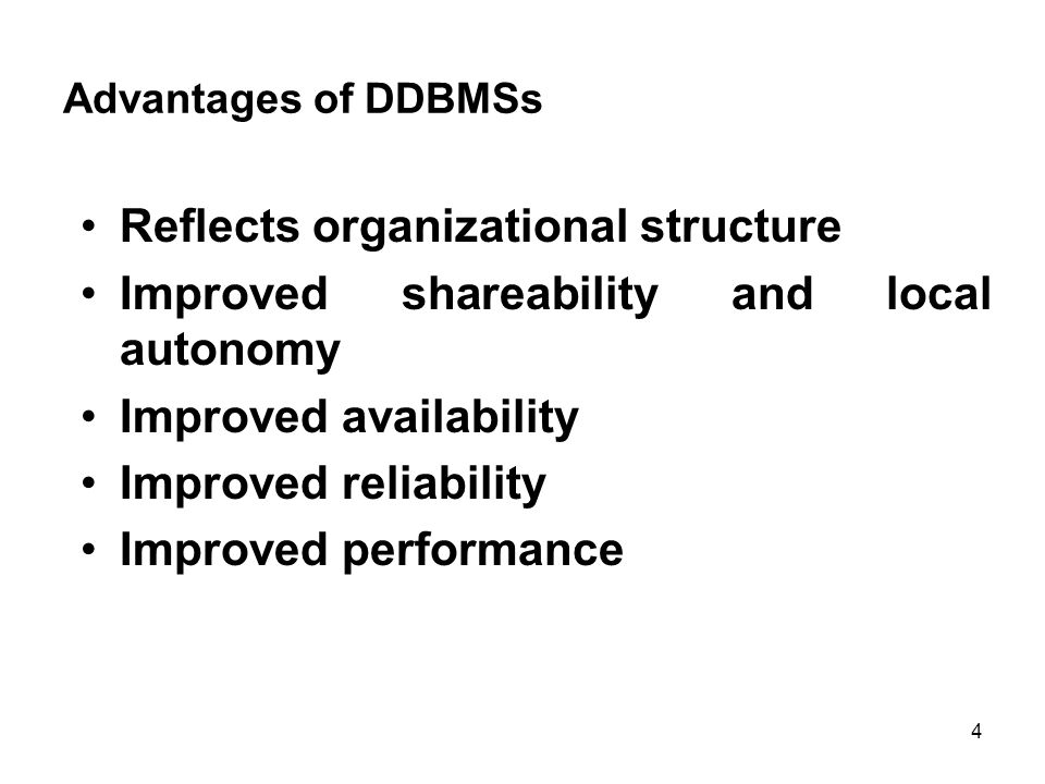 Disadvantages of DDBMSs Complexity Cost Security Integrity control more difficult Database design more complex 5