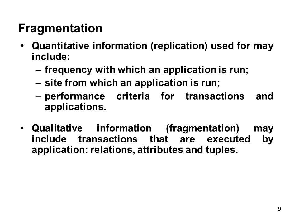 Comparison of Strategies for Data Distribution 10