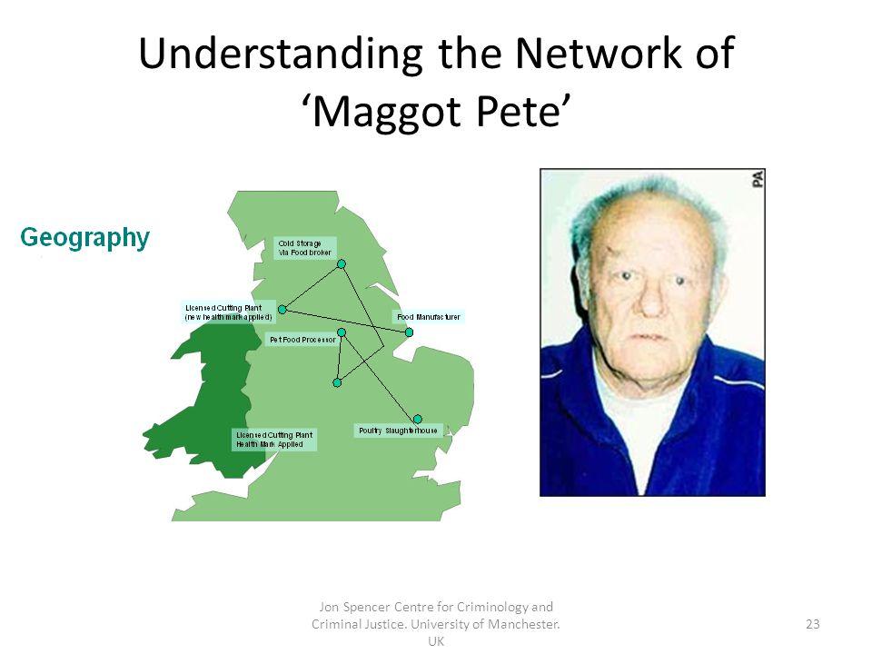 Understanding the Network of 'Maggot Pete' Jon Spencer Centre for Criminology and Criminal Justice.