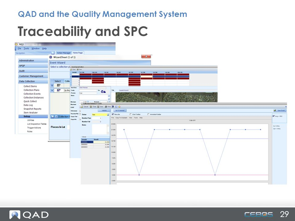 Traceability and SPC 29 QAD and the Quality Management System