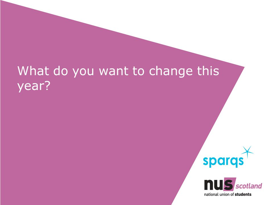 What do you want to change this year?