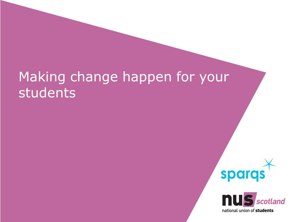 Making change happen for your students