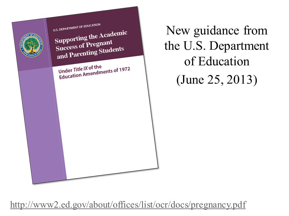 New guidance from the U.S.