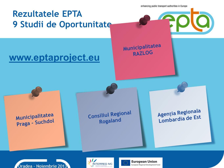 Rezultatele EPTA 9 Studii de Oportunitate.