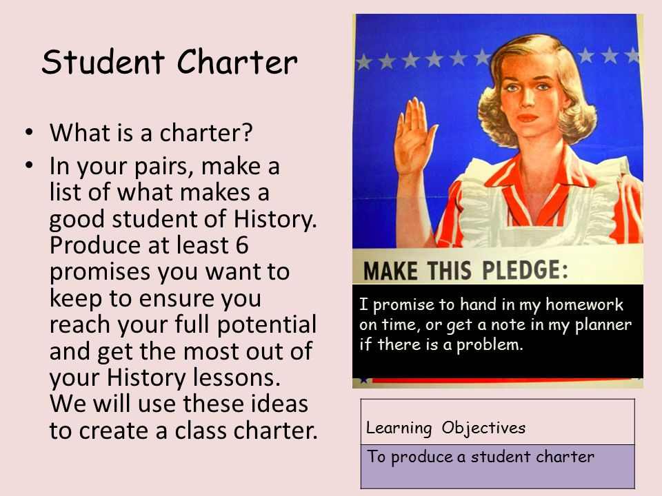 Student Charter What is a charter.