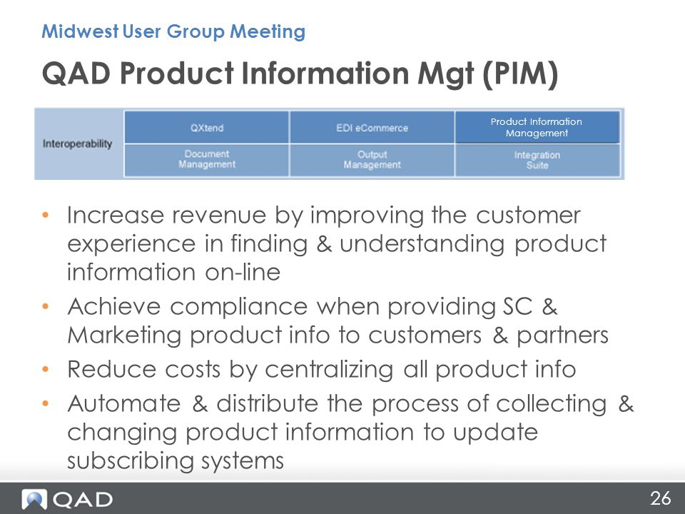 Increase revenue by improving the customer experience in finding & understanding product information on-line Achieve compliance when providing SC & Ma