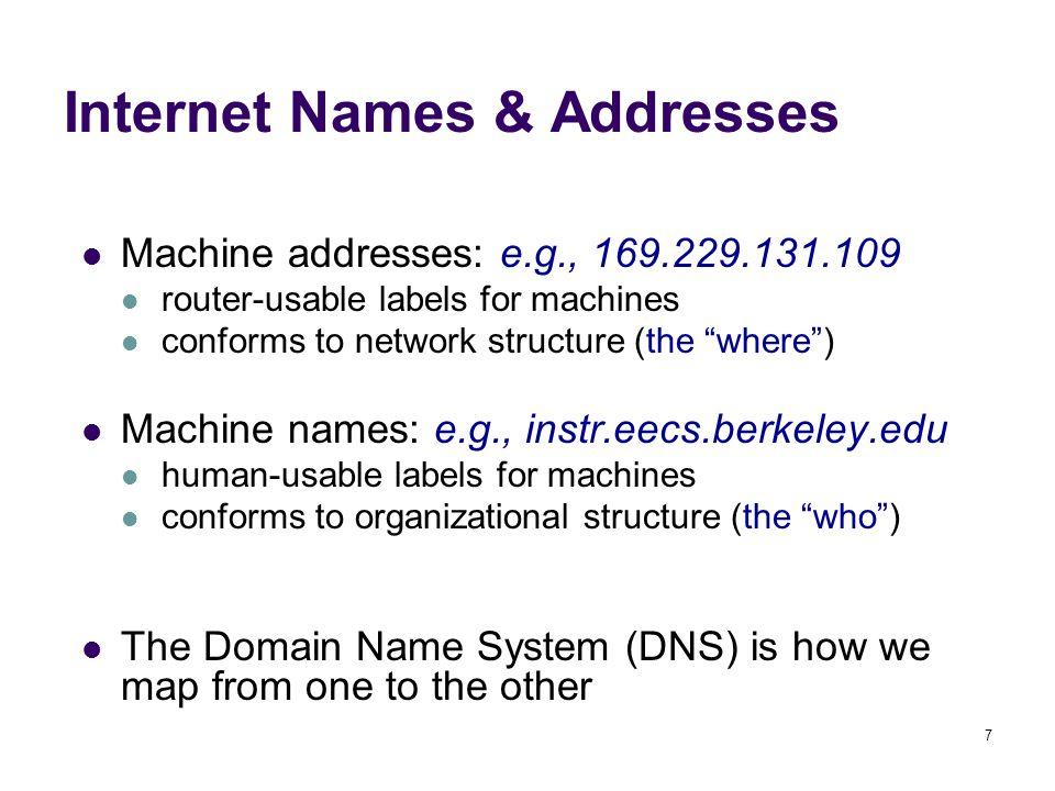 38 Uniform Record Locator (URL) protocol://host-name[:port]/directory-path/resource protocol: http, ftp, https, smtp, rtsp, etc.