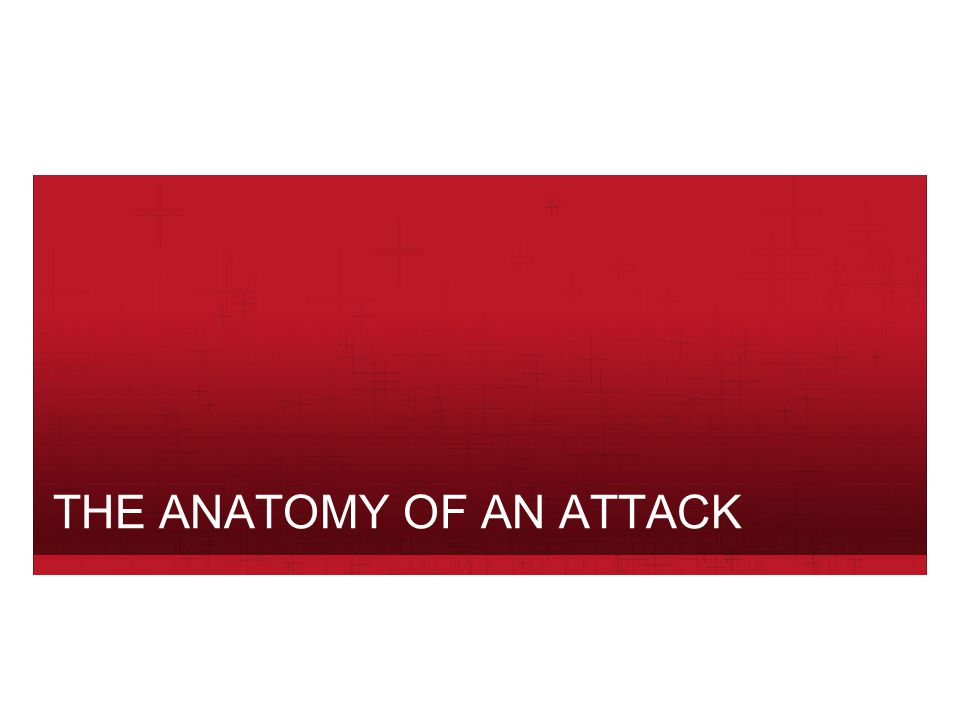 THE ANATOMY OF AN ATTACK