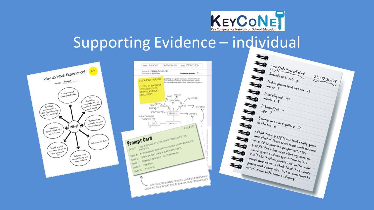Supporting Evidence – individual