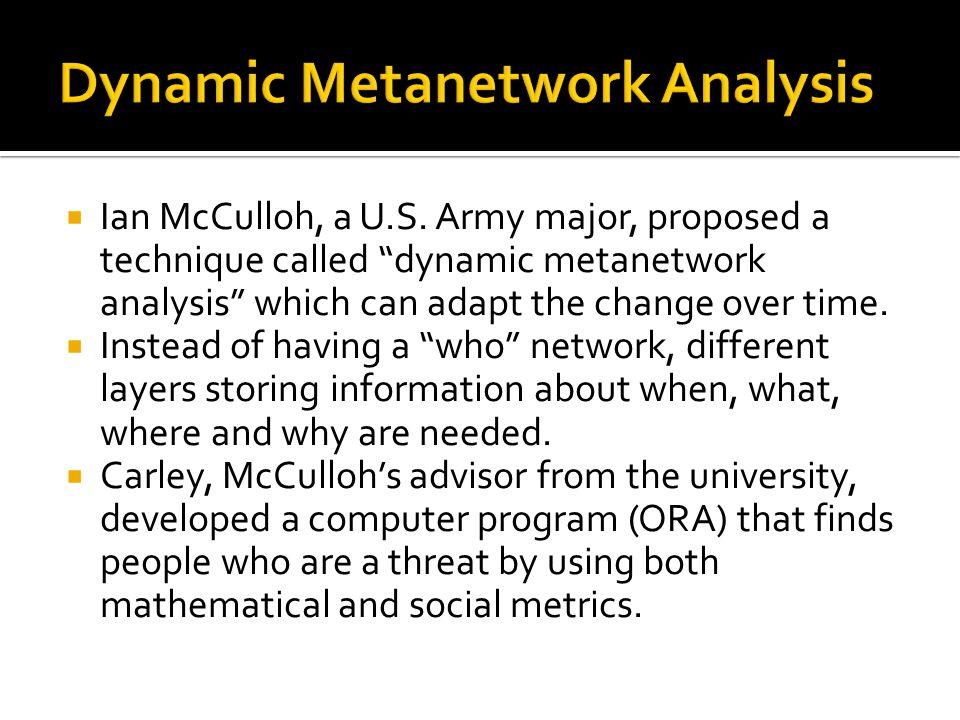  Ian McCulloh, a U.S.