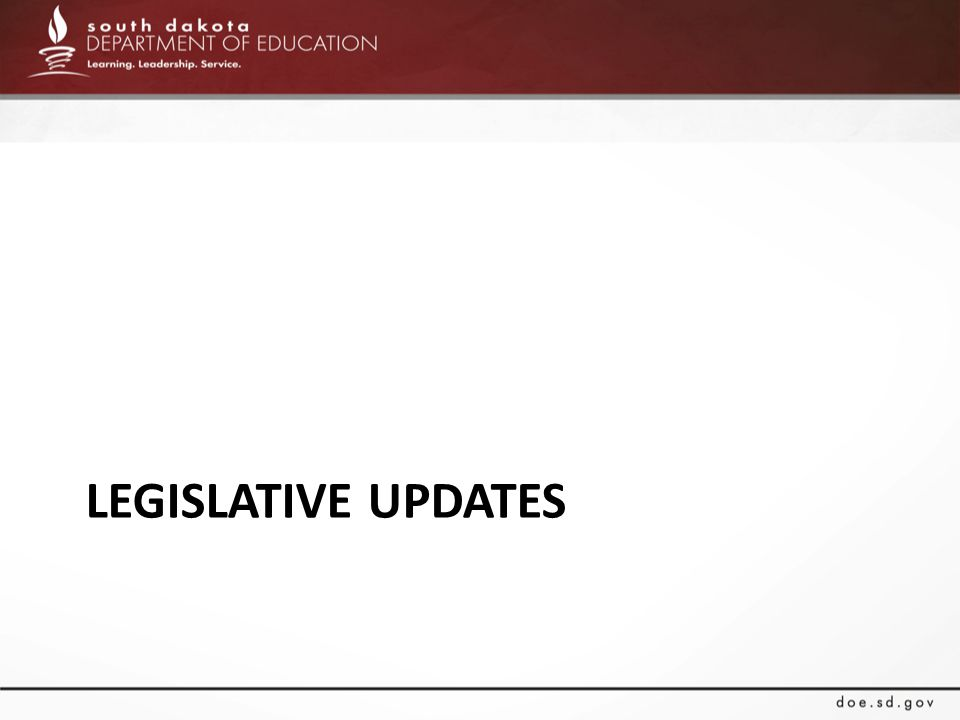 Legislative Updates (2.13.15) Bills out of play HB 1070 – a bill that mandated school districts to provide special education and related services to homeschool students.