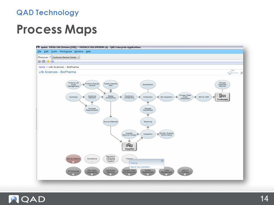 Process Maps QAD Technology 14