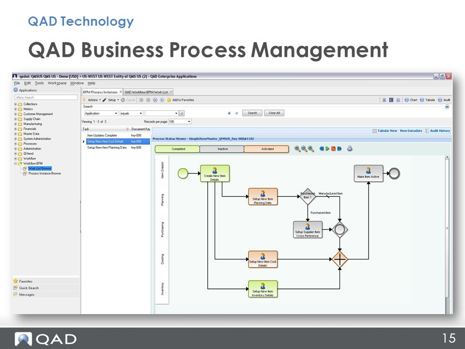 QAD Business Process Management QAD Technology 15