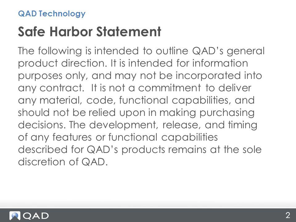 23 QAD Store Walkthrough QAD Technology
