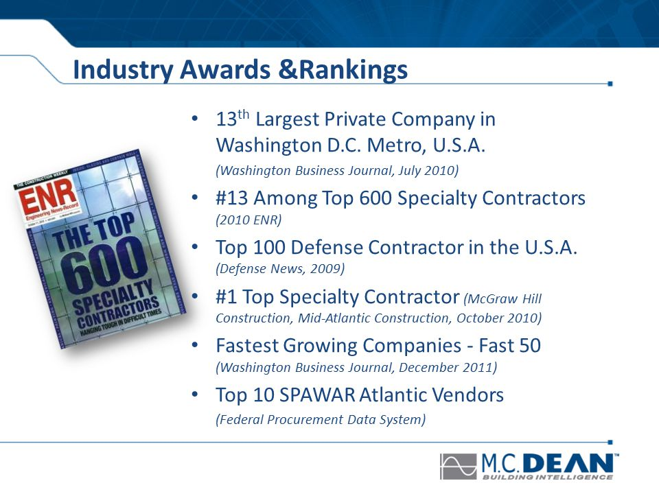 13 th Largest Private Company in Washington D.C. Metro, U.S.A.
