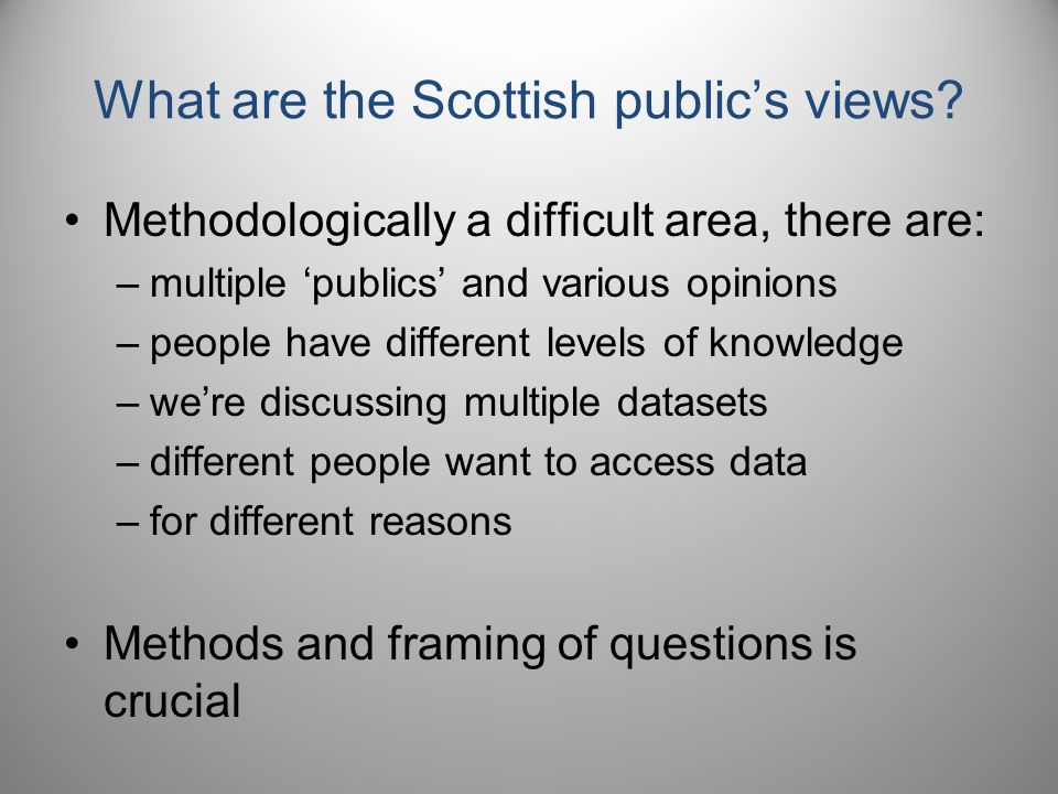 What are the Scottish public's views.