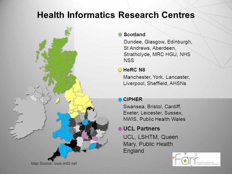 UCL Partners UCL, LSHTM, Queen Mary, Public Health England Scotland Dundee, Glasgow, Edinburgh, St Andrews, Aberdeen, Strathclyde, MRC HGU, NHS NSS CI