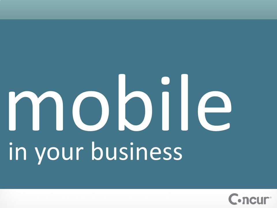 mobile in your business