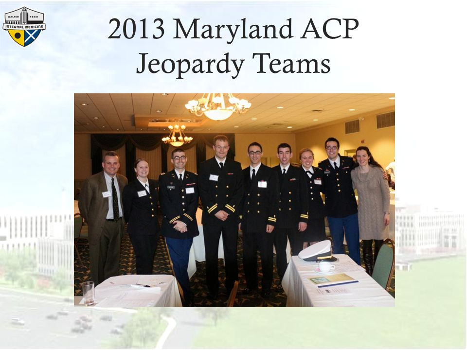 2013 Maryland ACP Jeopardy Teams