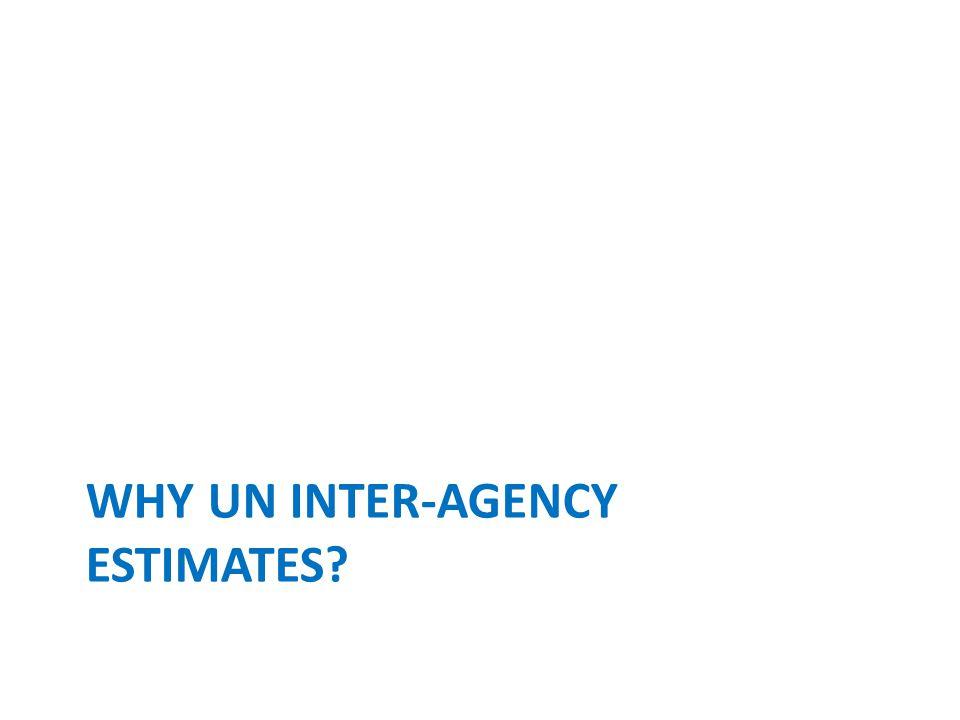 WHY UN INTER-AGENCY ESTIMATES?