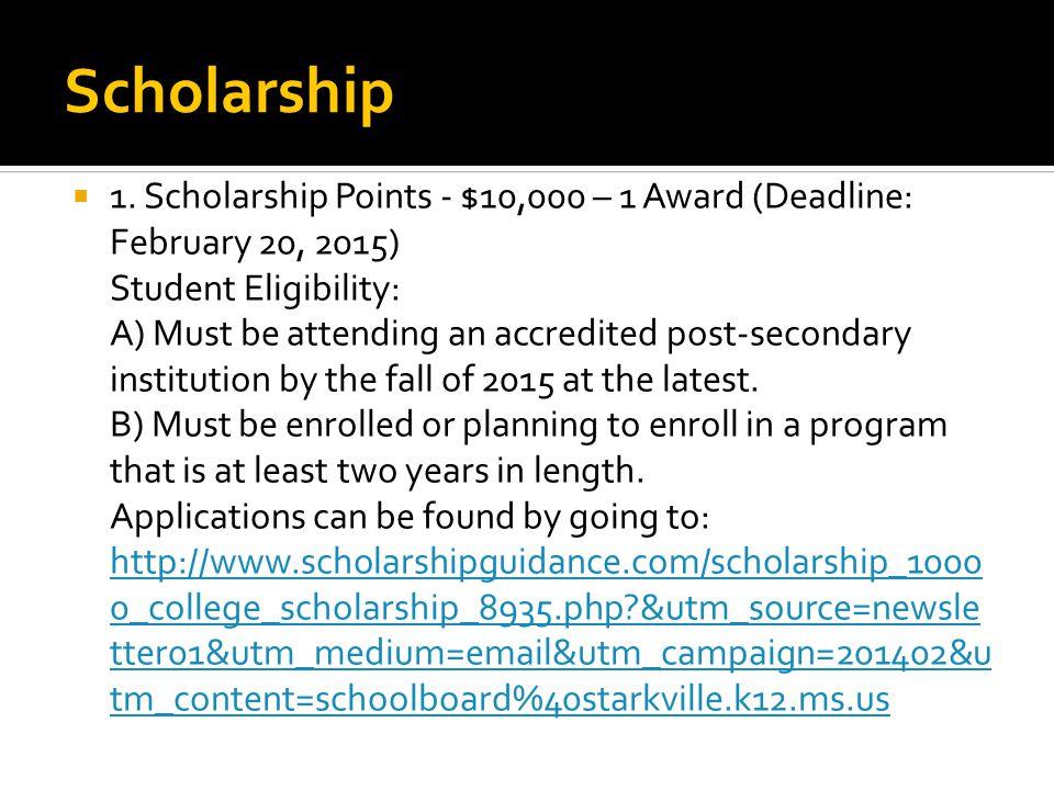 Scholarship  1.