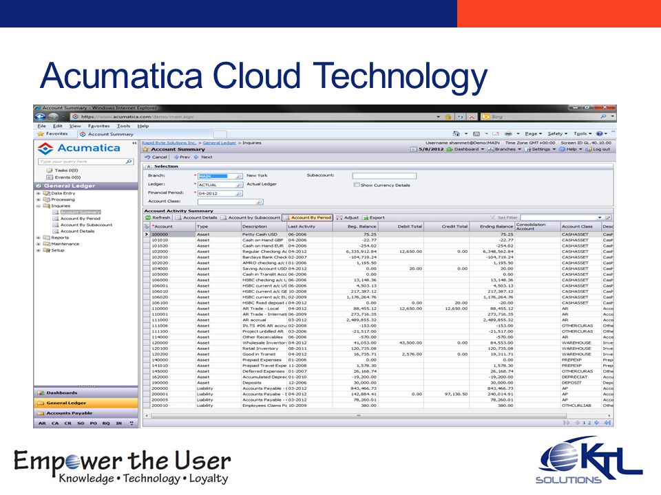 Acumatica Cloud Technology What is the Cloud Computational Services, Definition Trends to the Cloud Reasons for moving to Cloud Microsoft Strategy Best of Both Worlds