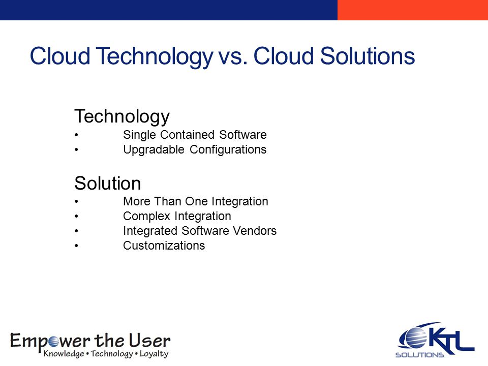 Cloud Technology vs.