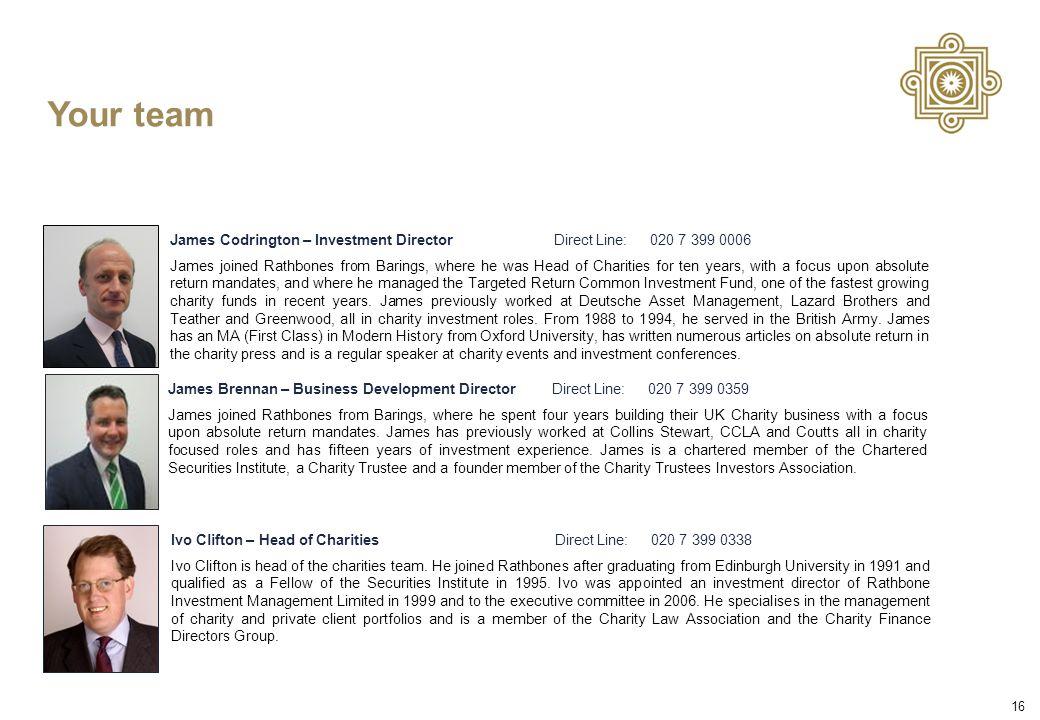 16 Ivo Clifton – Head of CharitiesDirect Line:020 7 399 0338 Ivo Clifton is head of the charities team.