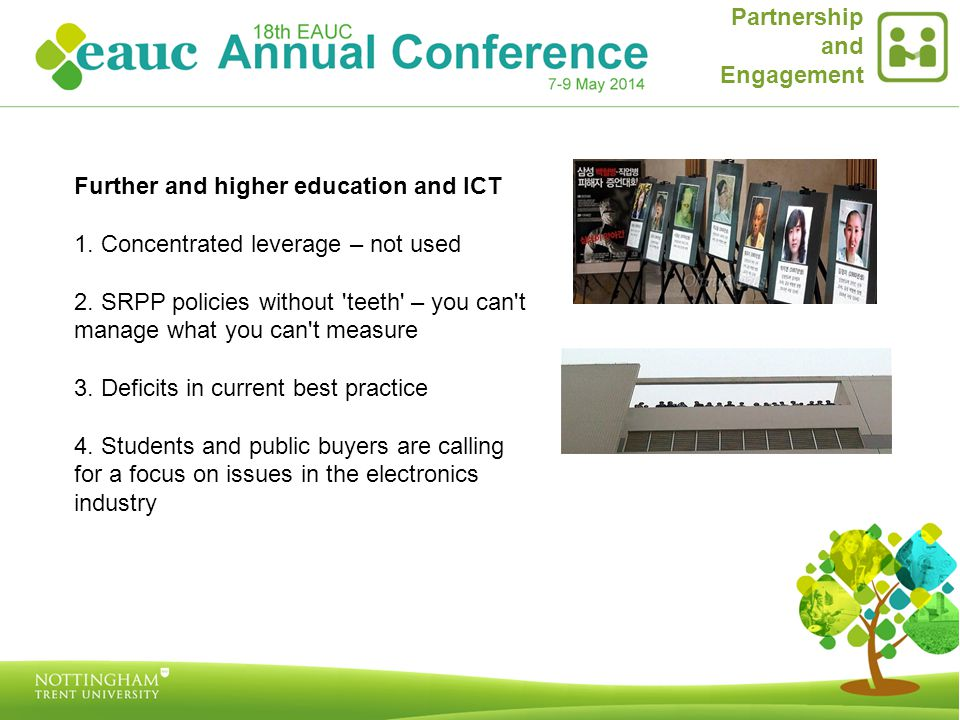 Further and higher education and ICT 1. Concentrated leverage – not used 2.