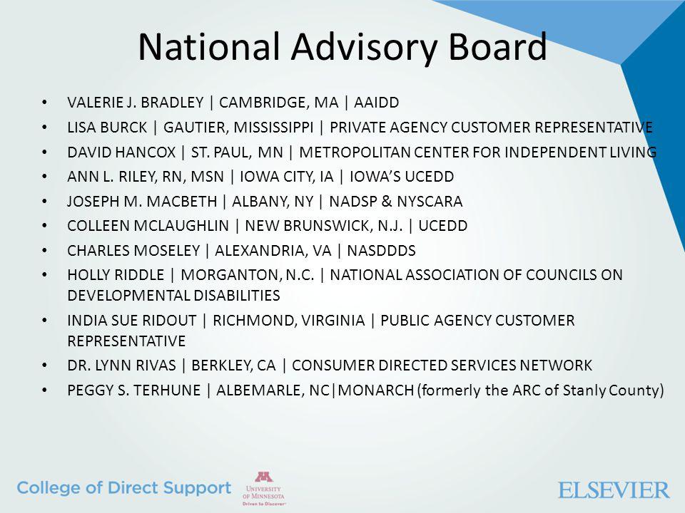 National Advisory Board VALERIE J.
