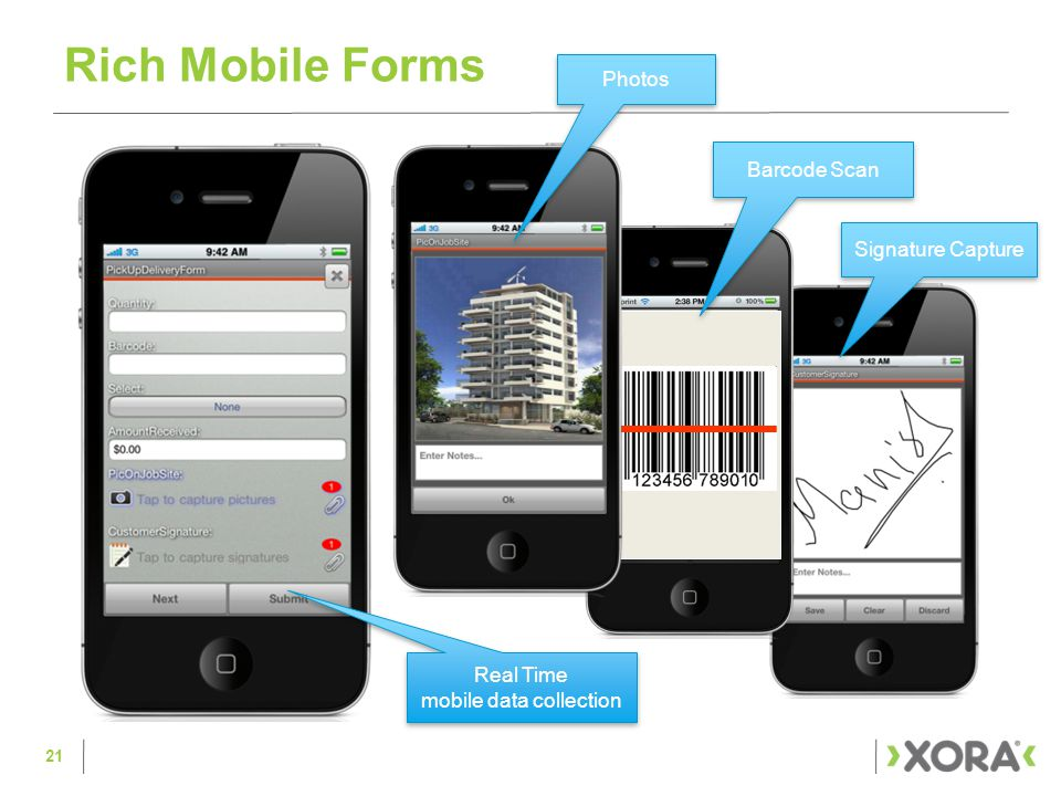 Rich Mobile Forms 21 Real Time mobile data collection Signature Capture Barcode Scan Photos