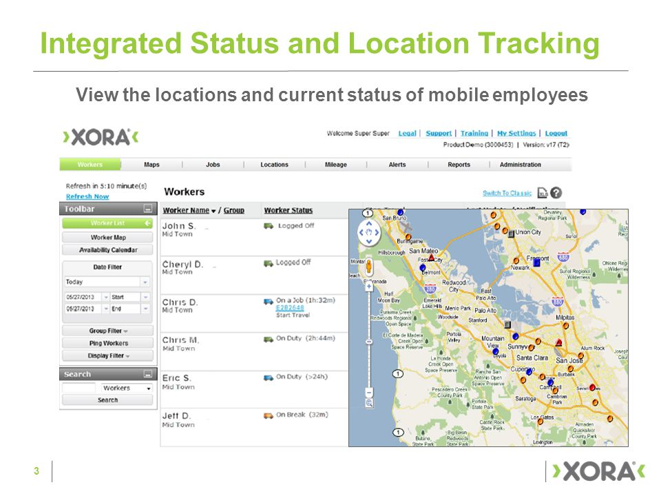 See Where Employees Are and Have Been Drill down to see individual worker information and history 4