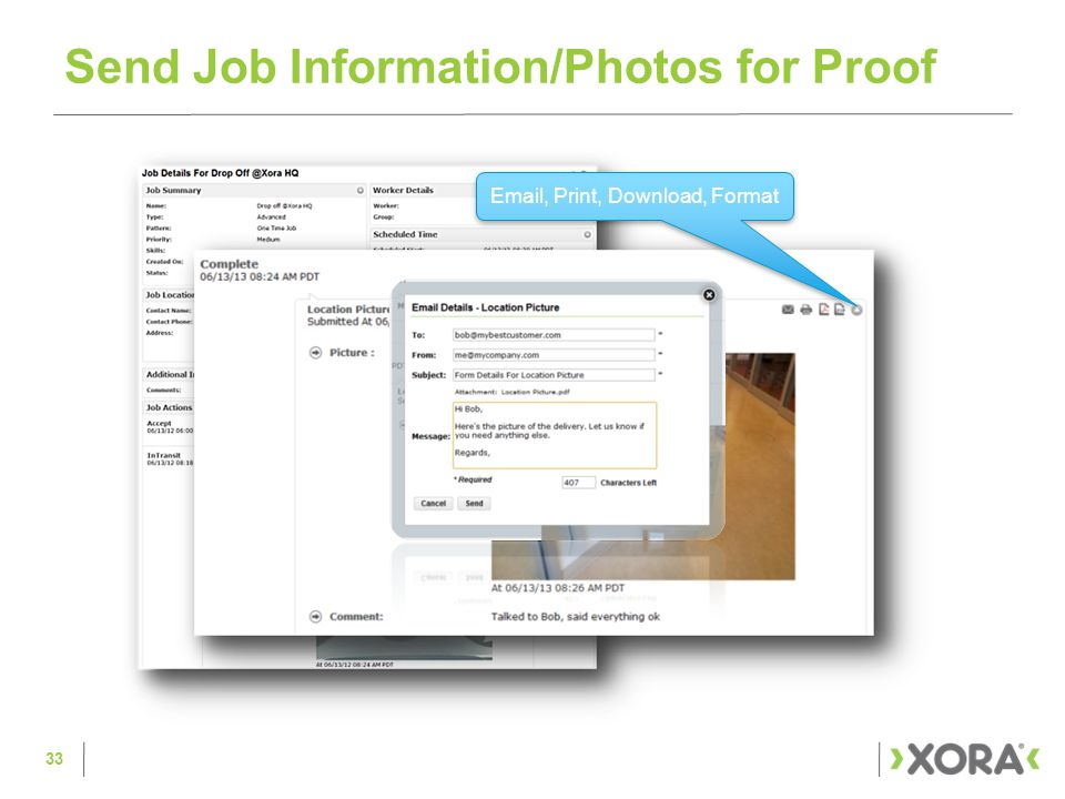 Send Job Information/Photos for Proof Email, Print, Download, Format 33