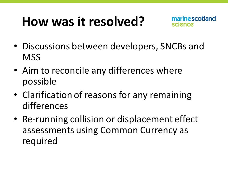 How was it resolved.