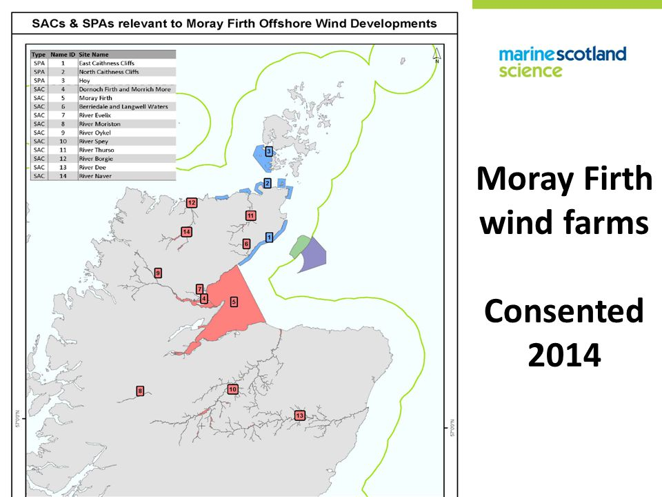 Moray Firth wind farms Consented 2014