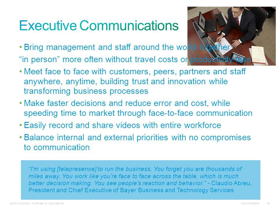 Cisco Confidential 22 © 2010 Cisco and/or its affiliates.