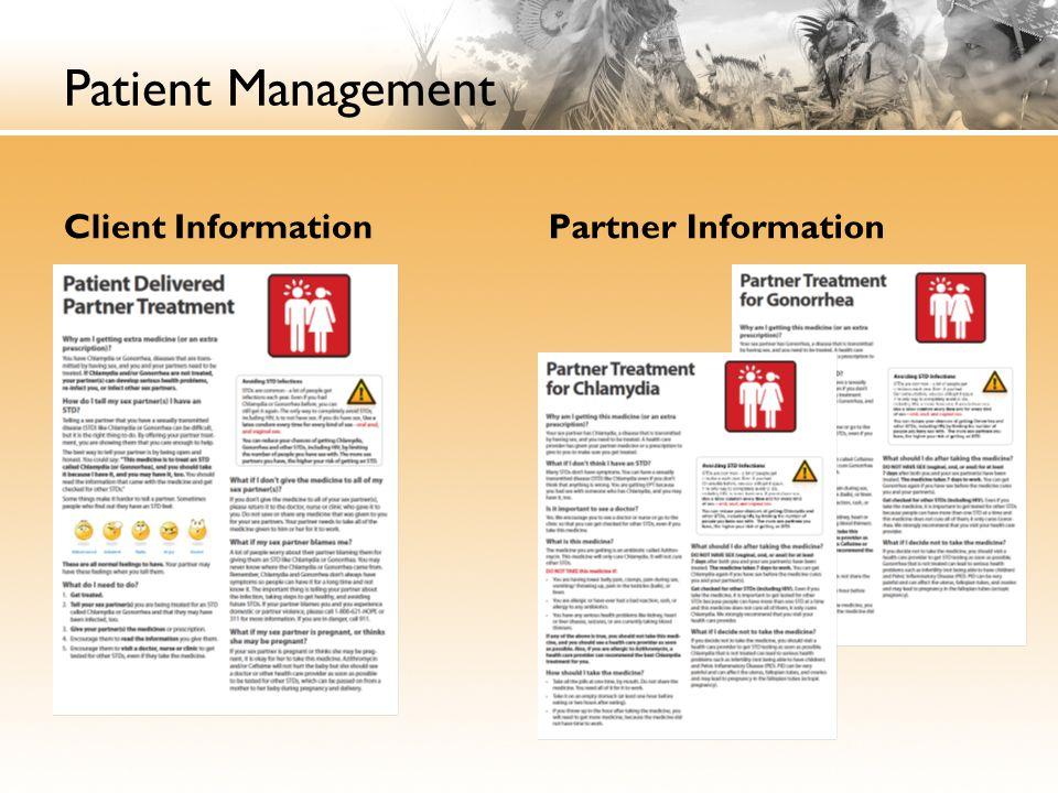 Patient Management Client Information Partner Information