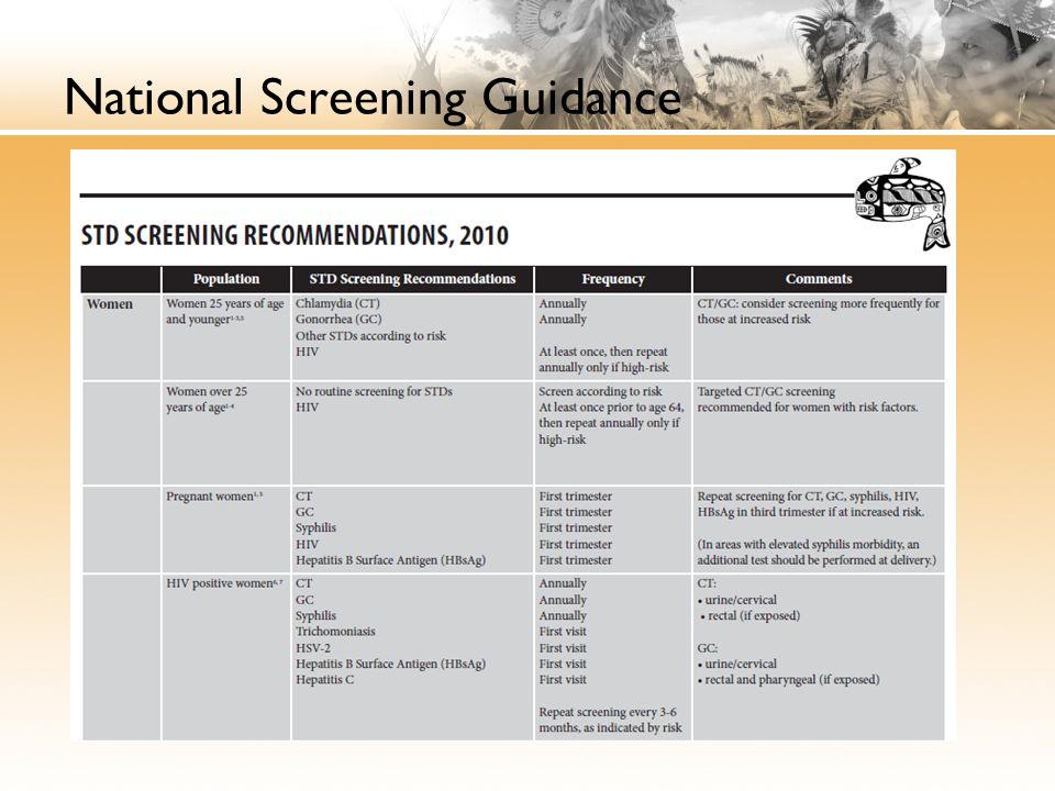 National Screening Guidance